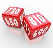 Credit Scores On Red Dice