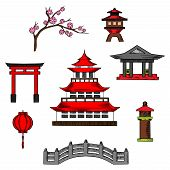 Постер, плакат: Japan travel and culture cions