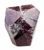 Постер, плакат: Crystal Of Garnet almandine Rock Isolated