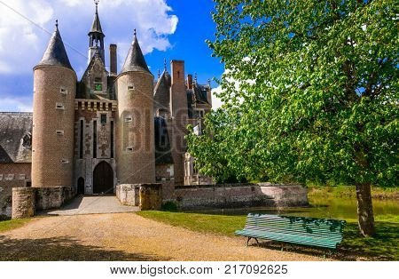 Romantic beautiful castles of France