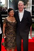 NEW YORK, NY - JULY 11: Director David Yates (R) and Yvonne Walcott attend the   premiere of 'Harry