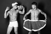 Handsome Macho Santa Twins poster
