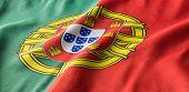 Portuguese Flag Waving poster
