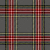 Tartan Stewart Royal  Plaid. Scottish Pattern In Grey, Red And Black Cage. Scottish Cage. Traditiona poster