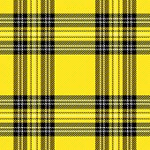 Tartan Stewart Royal  Plaid. Scottish Pattern In Yellow, Black And White Cage. Scottish Cage. Tradit poster