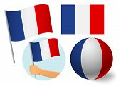 France Flag Icon Set. National Flag Of France  Illustration poster