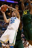 LOS ANGELES - MARCH 10: UCLA Bruins F Reeves Nelson #22 & Oregon Ducks G Teondre Williams #22 during