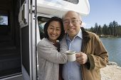 stock photo of early 60s  - Senior Couple on Road Trip - JPG