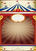 pic of school carnival  - wonderful circus vintage background An old style poster for your advertising - JPG