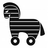 Computer Trojan Horse Icon. Simple Illustration Of Computer Trojan Horse Vector Icon For Web Design  poster