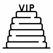 Vip Steps Icon. Outline Vip Steps Vector Icon For Web Design Isolated On White Background poster