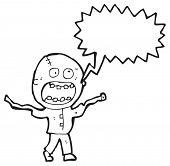 foto of madman  - cartoon crazy madman - JPG