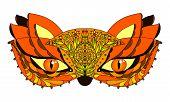 Vector Fox Mask. Mask For Carnival. Orange Face Mask. poster