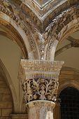 Pillars Of The Rectors Palace In Dubrovnik Croatia poster