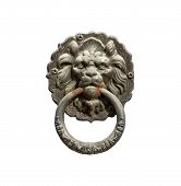 picture of door-handle  - Old style lion - JPG