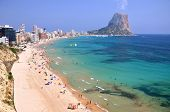 Sandy beach in Calpe in Spain