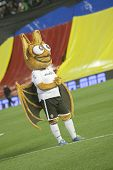 VALENCIA - FEBRUARY 3: Mascot of Valencia CF during Spanish League match between Valencia CF and FC