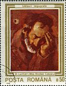ROMANIA - CIRCA 1990: A stamp printed in Romania shows painting of Stefan Luchian (1868-1917),  Roma