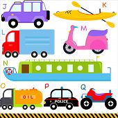 stock photo of four-wheel drive  - A set of cute vector A - JPG