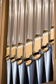 picture of pipe organ  - Details form A historic pipe organ in church - JPG