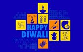 picture of kalash  - illustration of Happy Diwali background with diya and firecracker - JPG