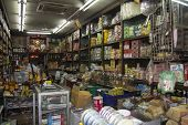 Bangkok, Thailand- Oct 10Th: A Typical Grocer's Shop In Chinatown, Bangkok On October 10Th 2012. Chi