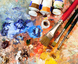 stock photo of expressionism  - Artistic equipment - JPG