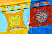 stock photo of medellin  - Details of colorful colonial houses in Guatape Antioquia in Colombia - JPG
