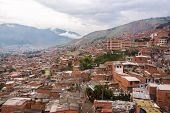 image of medellin  - View of a poor neighborhood in the hills above Medellin Colombia - JPG