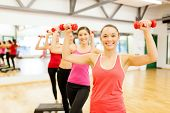 pic of step aerobics  - fitness - JPG