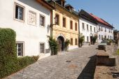 stock photo of banska  - street in banska stiavnica slovakia  - JPG