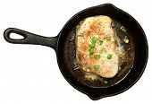 pic of swordfish  - Swordfish Baked in Skillet with Butter Ginger Green Onion Sauce - JPG