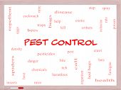 Pest Control Word Cloud Concept On A Whiteboard