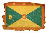 Постер, плакат: Гренада флаг старый изолированные на белом фоне