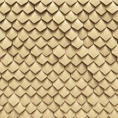 stock photo of lizard skin  - Background of fantasy dragon skin from yellow scales - JPG