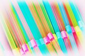 Plastic Drinking Straws Background