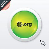 Domain ORG sign icon. Top-level internet domain