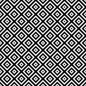 stock photo of hypnotizing  - Black and White Hypnotic Background Seamless Pattern - JPG