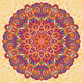 pic of east-indian  - Abstract Flower Mandala - JPG