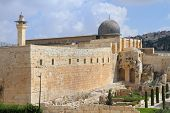 stock photo of aqsa  - The ancient walls of Jerusalem - JPG