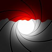 Gun barrel with blood - vector illustration