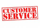 foto of clientele  - CUSTOMER SERVICE red Rubber Stamp over a white background - JPG