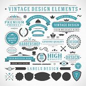 picture of flourish  - Vintage vector design elements - JPG