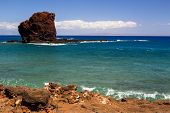 foto of sweethearts  - Sweetheart rock on the island Lanai in Hawaii - JPG