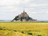 picture of mont saint michel  - rural view with mont saint - JPG