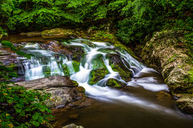 picture of smoky mountain  - Peaceful Smoky Mountain stream along the Roaring Fork Motor Nature Trail - JPG