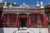 pic of mustang  - Entrance to Marpa gompa Marpa village - JPG