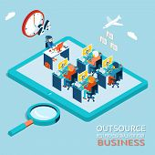 stock photo of counseling  - Outsourcing the best professionals for business advice - JPG