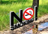 stock photo of banned  - The collage on the theme of environmental protection and the smoking ban - JPG