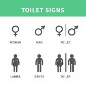 picture of female toilet  - Vector illustration Male and Female pictogram for toilet Symbol Icon - JPG
